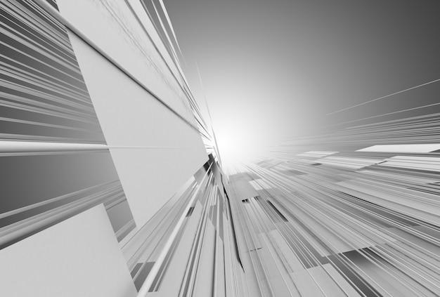 Streszczenie tło budowy przestrzeni. ilustracja 3d