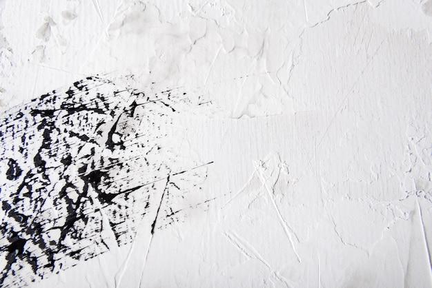 Streszczenie tło farby obrysu pędzla czarno-biały