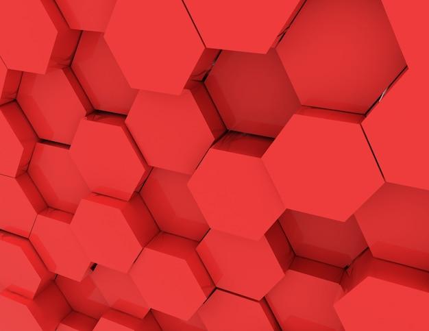 Streszczenie tło geometryczne komórek. 3d renderowana ilustracja