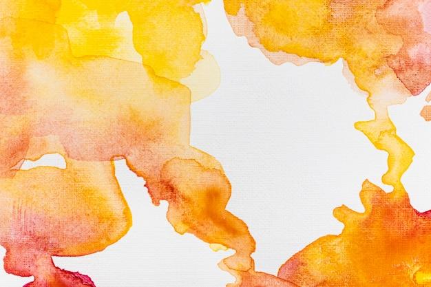 Streszczenie tło gradientowe akwarela pomarańczowy