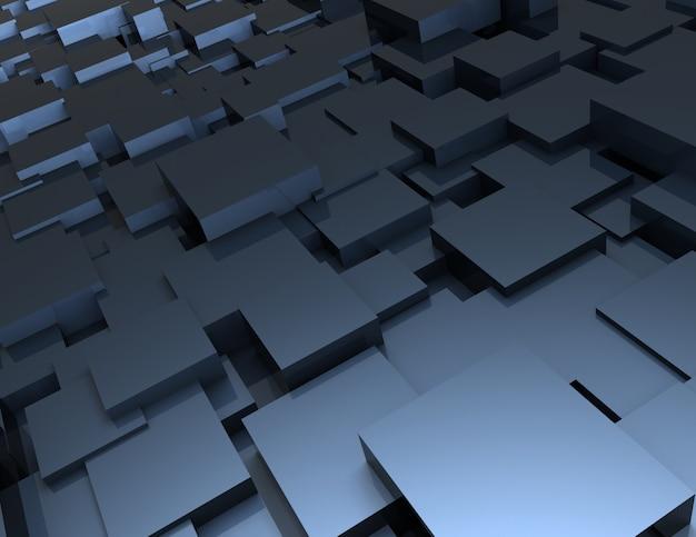 Streszczenie tło kostki. 3d renderowana ilustracja