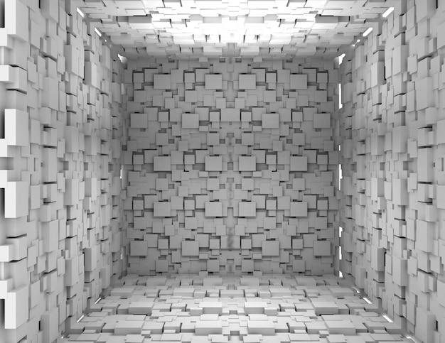 Streszczenie tło kostki. 3d renderowane ilustracja