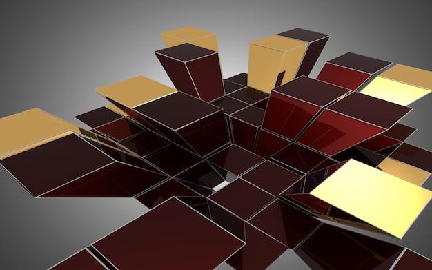 Streszczenie tło kostki. ilustracja 3d