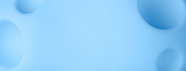 Streszczenie tło kreskówka niebieskiej planety, zabawka księżyc z kraterami, obraz panoramiczny