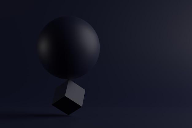 Streszczenie tło kształtów geometrycznych. renderowanie 3d.