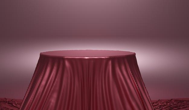 Streszczenie tło, makieta sceny z podium do wyświetlania produktów. renderowanie 3d.