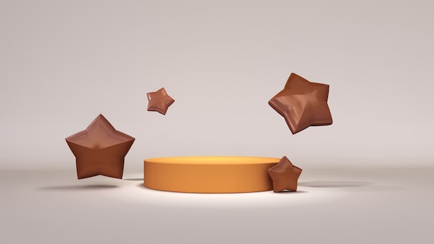 Streszczenie tło, makiety sceny do wyświetlania produktów z gwiazdami. renderowanie 3d