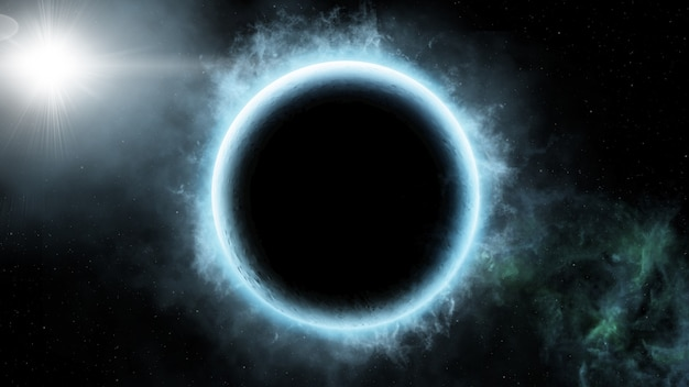Streszczenie tło naukowe sceny wszechświata w kosmosie