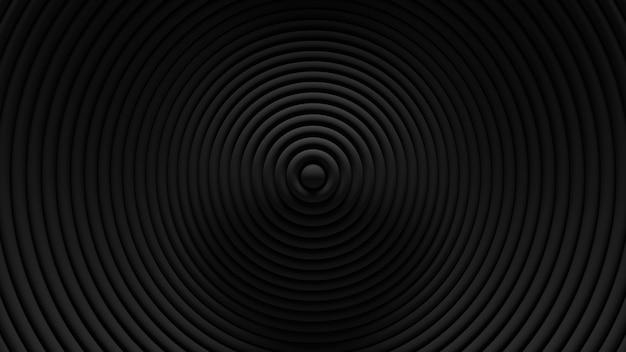 Streszczenie tło oscylacja rolety okrągłe. . pofalowana powierzchnia pierścieni 3d. przemieszczanie elementów geometrycznych.
