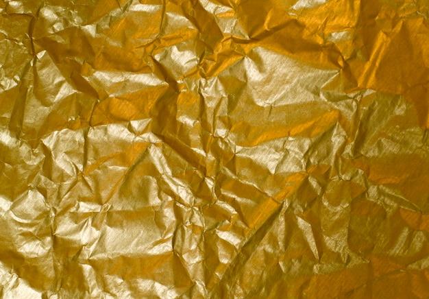 Streszczenie tło pomarszczony złoty papier