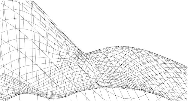 Streszczenie tło siatki sieci, sieć, połączenia, pomysł na komputer i technologię