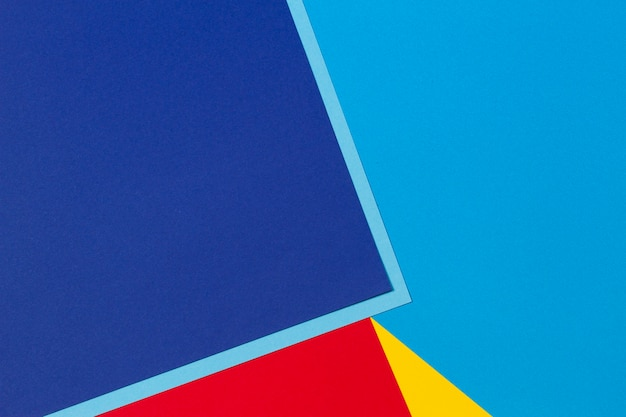 Streszczenie tło skład geometrii papieru niebieski czerwony i żółty kolor