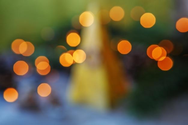 Streszczenie tło światła bożego narodzenia.