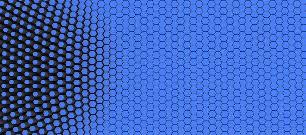 Streszczenie tło technologiczne sześciokątów, ilustracja 3d