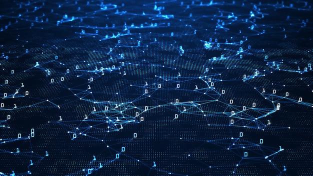 Streszczenie tło technologii cyfrowej