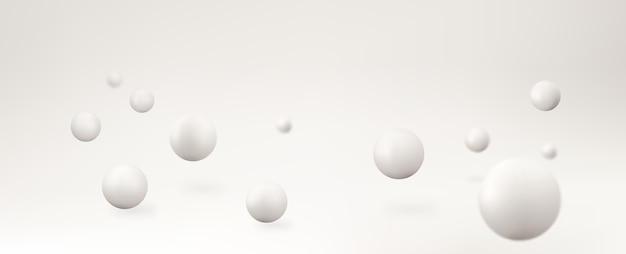 Streszczenie tło wektor z kształtami 3d. realistyczne kule wektorowe.