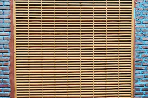 Streszczenie tło wentylacji na ścianie z bliska