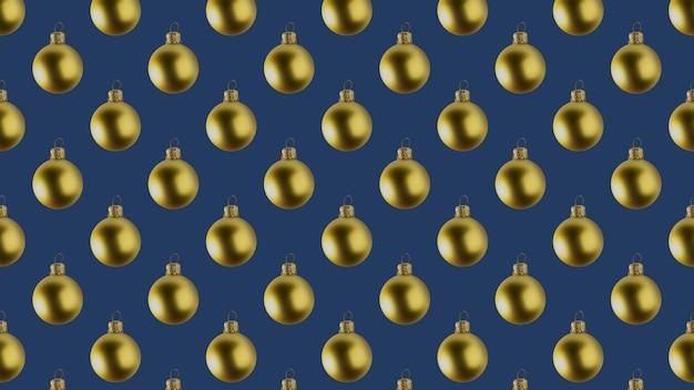 Streszczenie tło wielu złotych bombek na ciemnoniebieskim