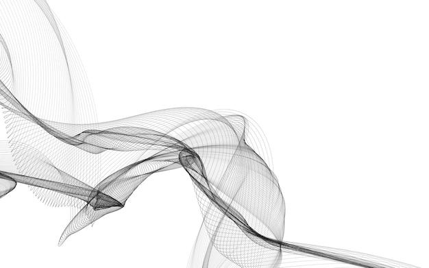 Streszczenie tło z monochromatycznymi liniami fali na białym tle. nowoczesna technologia w tle.