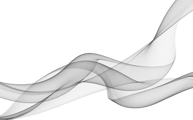 Streszczenie tło z monochromatycznymi liniami fali na białym tle. tło nowoczesnej technologii.