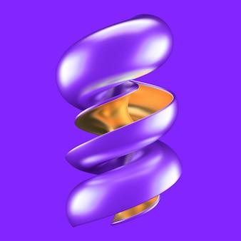 Streszczenie tło z turkusem i złotem. ilustracja, renderowanie 3d.