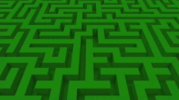 Streszczenie tło zielony labirynt