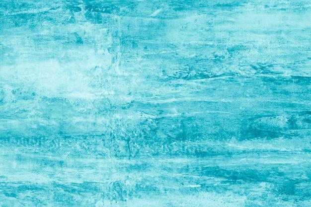 Streszczenie turkusowy wzór z plamami farby. karta malarska w nowoczesnym stylu.