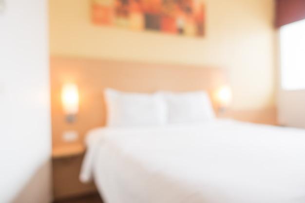 Streszczenie wnętrze sypialni rozmycie