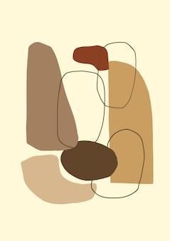 Streszczenie współczesny plakat lub karta estetyczne geometryczne tło kolaż