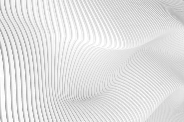 Streszczenie wzoru fali białej, parametryczny projekt architektoniczny. tapeta geometryczna.