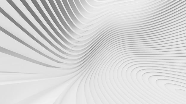 Streszczenie zakrzywione kształty. białe okrągłe tło. abstrakcyjne tło. ilustracja 3d