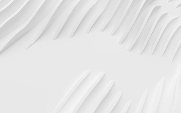 Streszczenie zakrzywione kształty. białe okrągłe tło.