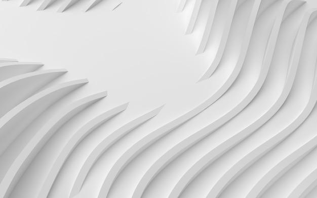 Streszczenie zakrzywione kształty na białym tle kołowym w ilustracji 3d