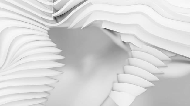 Streszczenie zakrzywione kształty