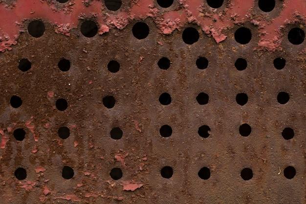 Streszczenie zardzewiały metal tekstury tła