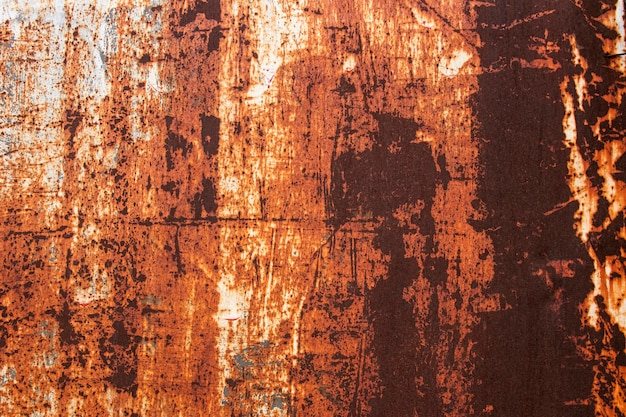 Streszczenie zbliżenie zardzewiałe metalowe tapety