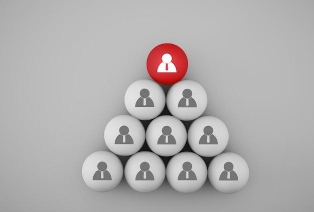 Streszczenie zdjęcia koncepcji zespołu zarządzania zasobami ludzkimi i rekrutacji, łączenia podmiotów, hierarchii i hr