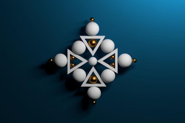 Streszczenie zen świętą kompozycję geometryczną