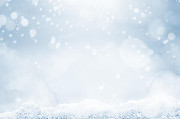 Streszczenie zimowe tło bożego narodzenia z cząsteczkami