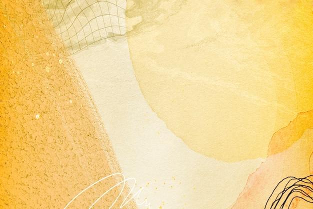 Streszczenie złote tło akwarela