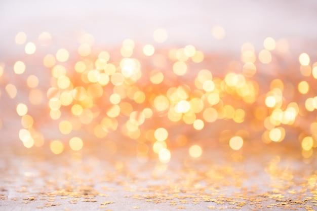 Streszczenie złoty bokeh