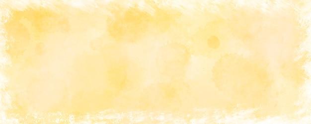 Streszczenie złoty szablon z białym tłem akwareli ramki