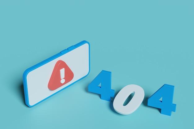 Strona błędu 404 nie została znaleziona ilustracja. 3d renderowania tła