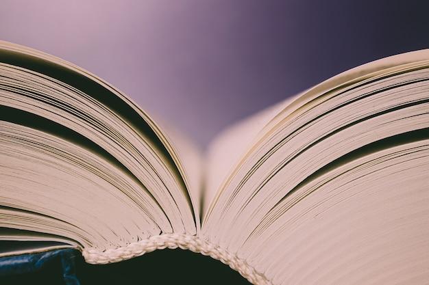 Strony książki z bliska.