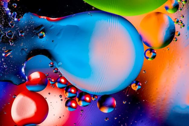 Struktura abstrakcyjna cząsteczki. bąbelki wody.