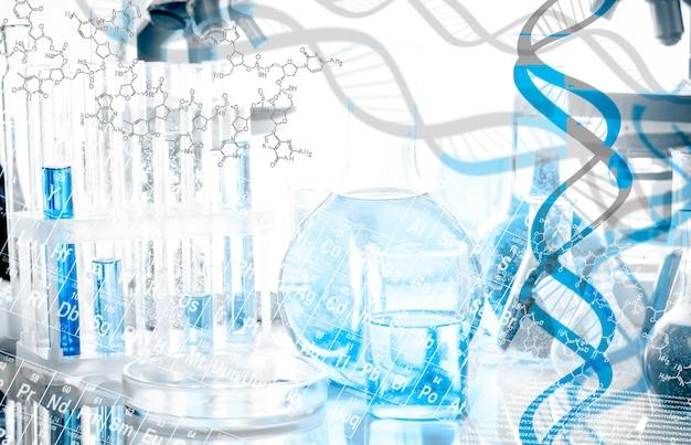 Struktura dna i formuła nad sprzętem biotechnologicznym