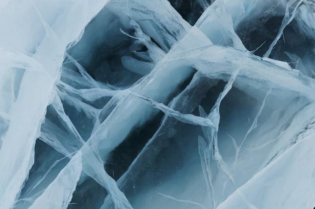Struktura głębokiego i czystego lodu rzecznego