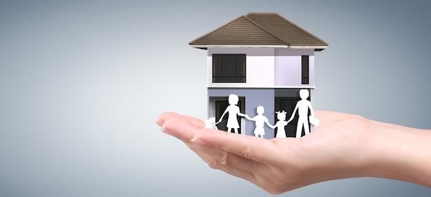 Struktura mieszkalna domu w dłoni, pomysł na biznes domu
