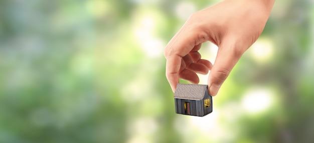 Struktura mieszkaniowa domu w ręku