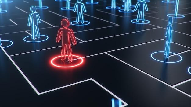 Struktura sieci między ludźmi, wymiana danych